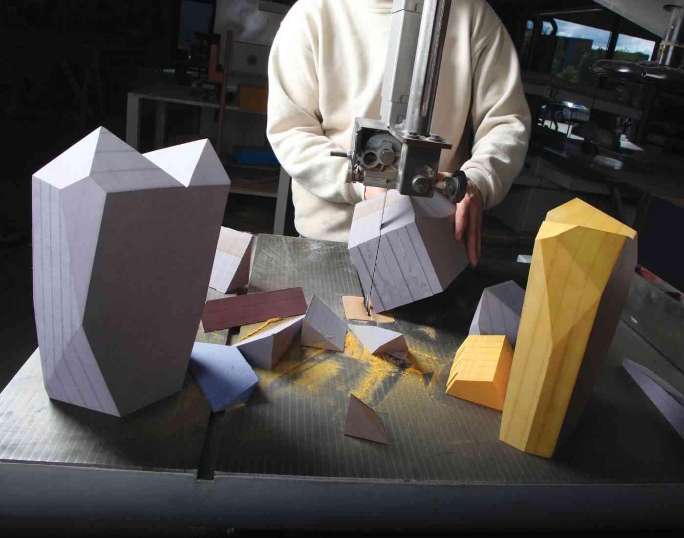 Cortando piezas de diseño