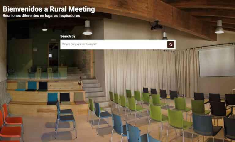 Primera plataforma en Europa dedicada al turismo de reuniones en entornos rurales