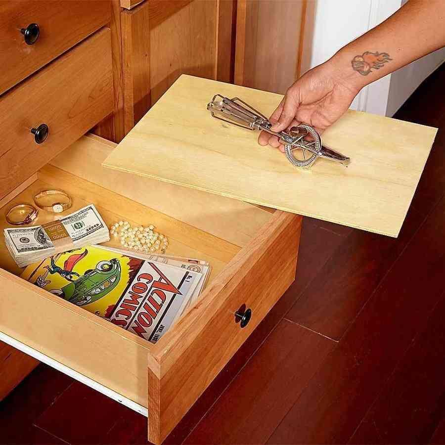 Lugares ingeniosos donde guardar nuestros objetos de valor 2