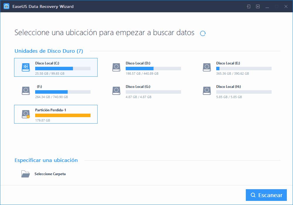 ¿Pérdida de datos en tu ordenador? EaseUS Data Recovery Wizard Free te ayuda a recuperarlos 3
