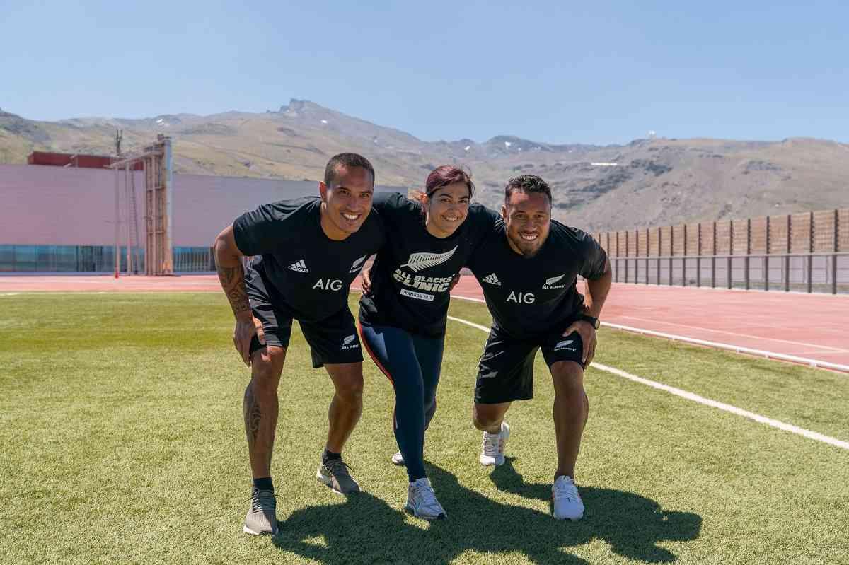 María José Rienda recibe a los All Black en España 2