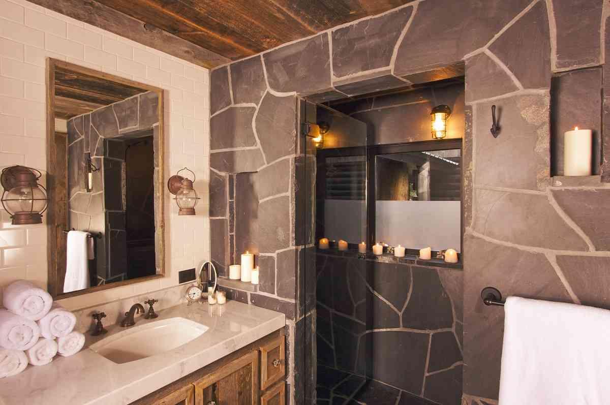La decoración rústica en los baños 1