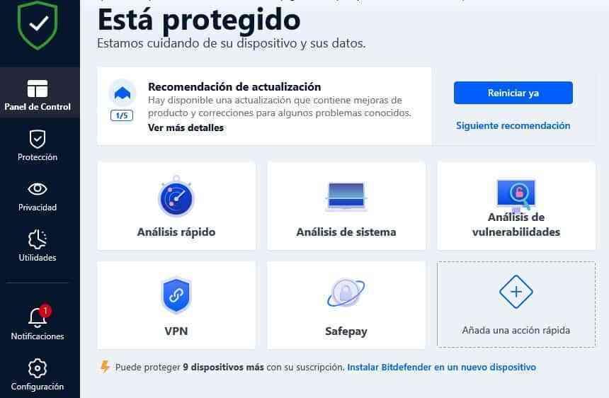 Protege todos tus dispositivos con Bitdefender Total Security 5